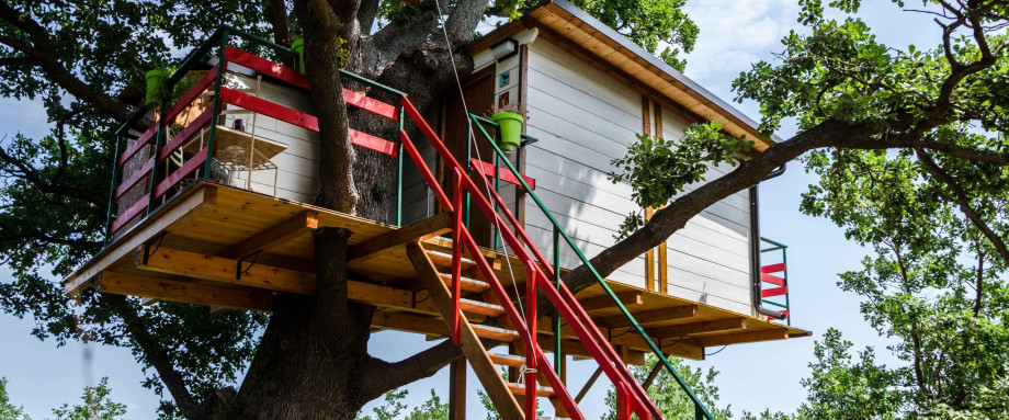 Case sugli alberi a Lentella